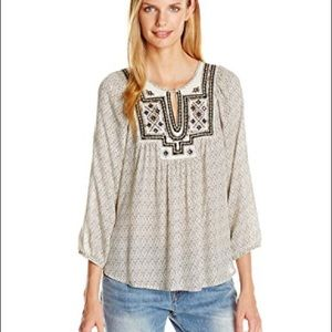 c0d7a0b9db506 Lucky Brand Tops - Lucky Brand Lilah Embroidered Boho Flowy Top